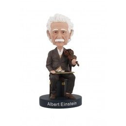 ROYAL BOBBLES ALBERT EINSTEIN VIOLIN HEADKNOCKER BOBBLE HEAD FIGURE