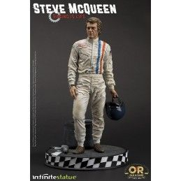 INFINITE STATUE STEVE MCQUEEN OLD AND RARE STATUE RESIN FIGURE 32 CM