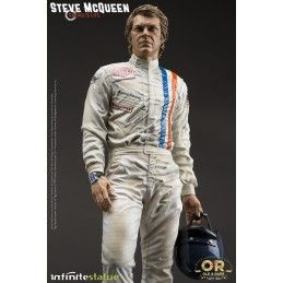 STEVE MCQUEEN OLD AND RARE STATUE RESIN FIGURE 32 CM