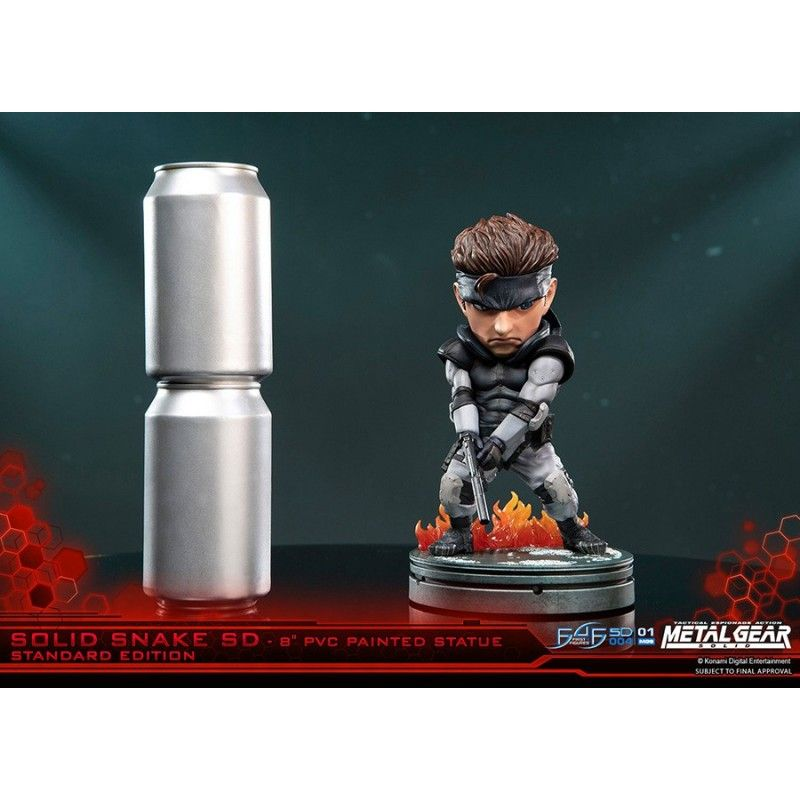 FIRST4FIGURES METAL GEAR SOLID SNAKE SUPERDEFORMED 20 CM PVC STATUE FIGURE