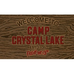 SD TOYS FRIDAY THE 13TH CAMP CRYSTAL LAKE DOORMAT ZERBINO 40X70CM