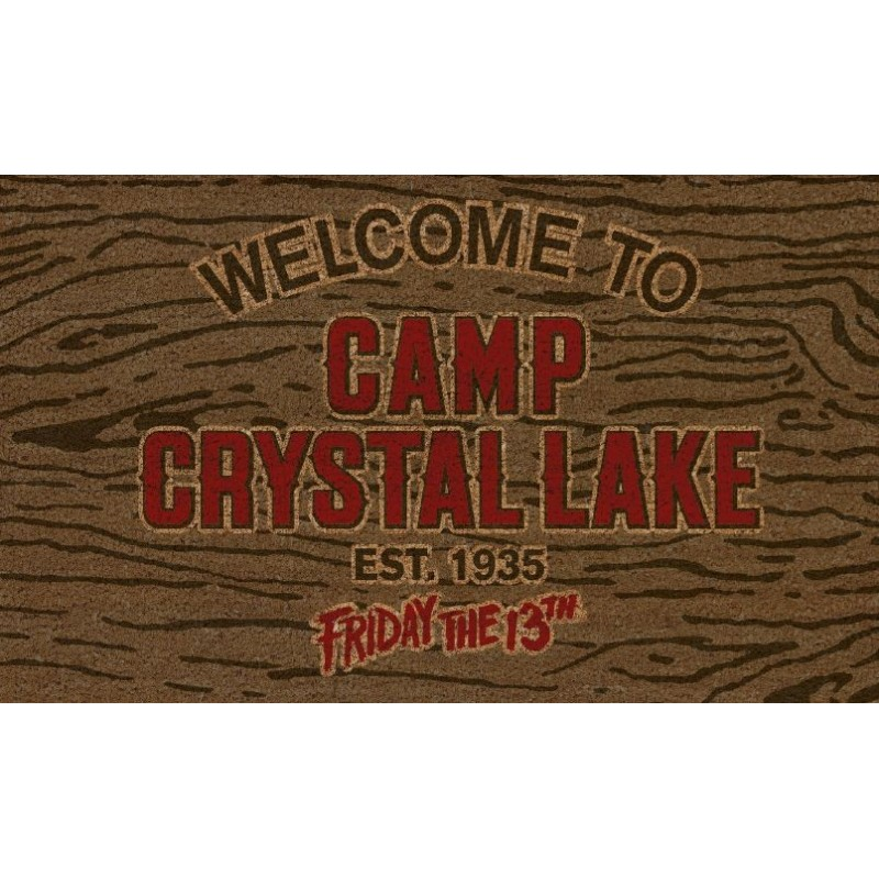 FRIDAY THE 13TH CAMP CRYSTAL LAKE DOORMAT ZERBINO 40X70CM SD TOYS