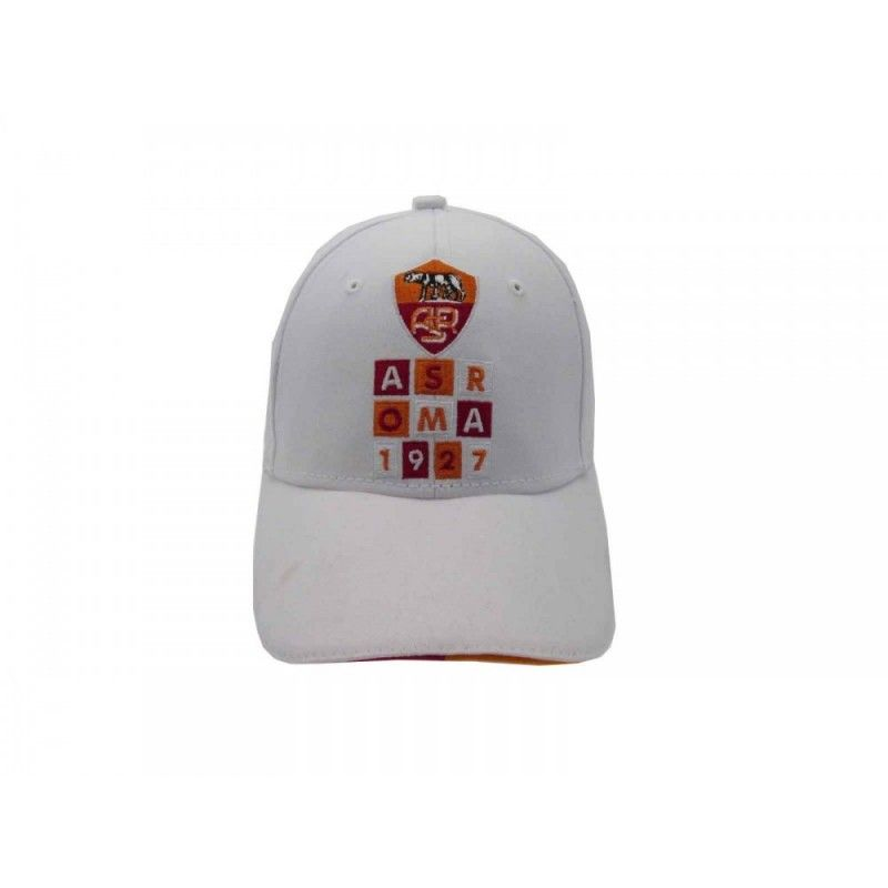 CAPPELLO BASEBALL CAP AS ROMA 1927 UFFICIALE BIANCO REGOLABILE