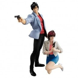 CITY HUNTER - RYO SAEBA AND KAORI MAKIMURA GEM STATUE FIGURE MEGAHOUSE