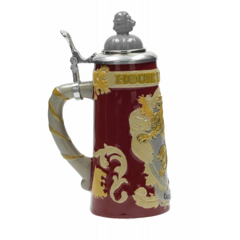 SD TOYS GAME OF THRONES - LANNISTER BAVARIAN BEER STEIN BOCCALE PER BIRRA IN CERAMICA
