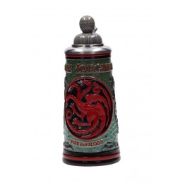 GAME OF THRONES - TARGARYEN BAVARIAN BEER STEIN BOCCALE PER BIRRA IN CERAMICA