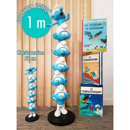 SMURFS I PUFFI COLUMN SMURFS PUFFI IN COLONNA RESIN STATUE 100CM FIGURE