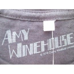MAGLIA T SHIRT AMY WINEHOUSE BACK TO BLACK NERA