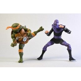 TMNT TEENAGE MUTANT NINJA TURTLES - MICHELANGELO VS FOOT SOLDIER 2-PACK ACTION FIGURE NECA