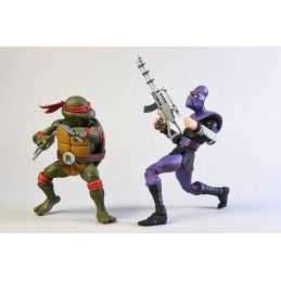 TMNT TEENAGE MUTANT NINJA TURTLES - RAFFAELLO VS FOOT SOLDIER 2-PACK ACTION FIGURE NECA