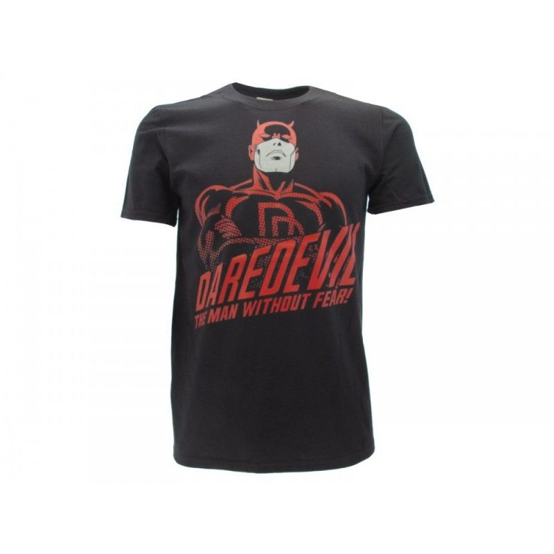 MAGLIA T SHIRT MARVEL DAREDEVIL THE MAN WITHOUT FEAR NERA