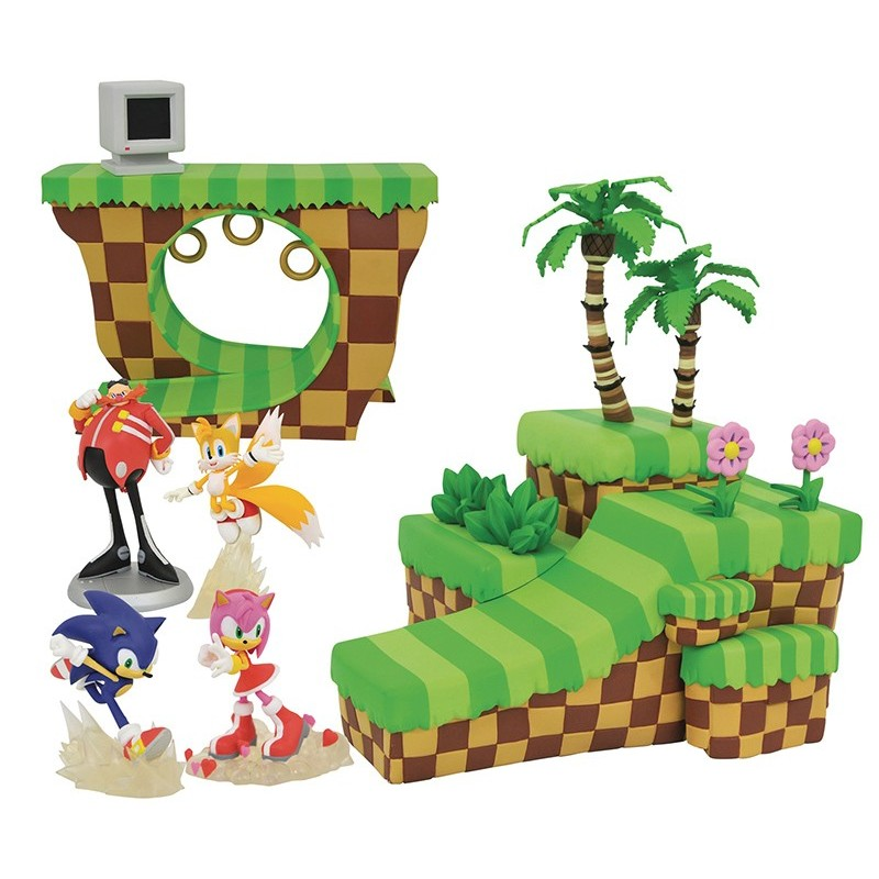 SONIC THE HEDGEHOG PLAYSET 1 AND 2 DIORAMA SET FIGURE