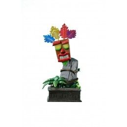 FIRST4FIGURES CRASH BANDICOOT AKU AKU MASK RESIN STATUE 40CM FIGURE