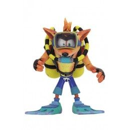 NECA CRASH BANDICOOT SCUBA CRASH DELUXE ACTION FIGURE