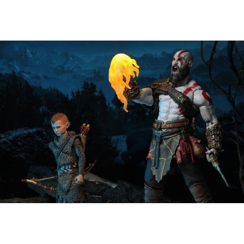 NECA GOD OF WAR 4 - ULTIMATE KRATOS AND ATREUS 2-PACK ACTION FIGURE