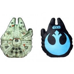 STAR WARS MILLENNIUM FALCON PELUCHE PLUSH CUSHION CUSCINO 58x45x14cm SD TOYS