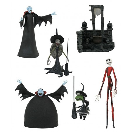 NIGHTMARE BEFORE CHRISTMAS SERIES 8 SET ACTION FIGURE