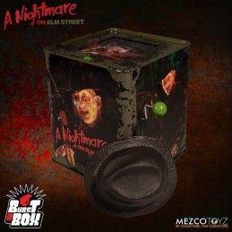 A NIGHTMARE ON ELM STREET BURST A BOX FREDDY KRUEGER PUPAZZO A MOLLA FIGURE MEZCO TOYS