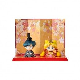SAILOR MOON PETIT CHARA USAGI & MAMORU ACTION FIGURE MEGAHOUSE