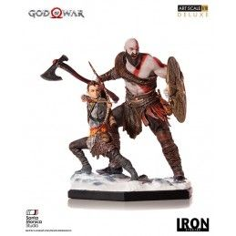 IRON STUDIOS GOD OF WAR KRATOS AND ATREUS ART SCALE 1/10 DELUXE 18 CM STATUE FIGURE
