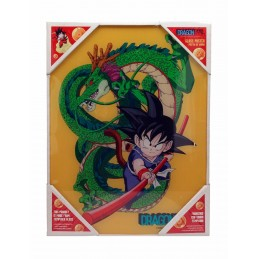 DRAGON BALL KID GOKU SHENRON GLASS POSTER 40 X 30 CM