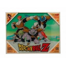 DRAGON BALL Z SPECIAL FORCES GINEW GLASS POSTER IN VETRO 40 X 30 CM
