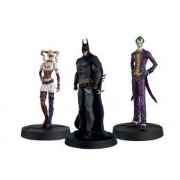 BATMAN ARKHAM ASYLUM - HERO COLLECTION STATUES 1/16 3-PACK 10TH ANNIVERSARY BOX FIGURE