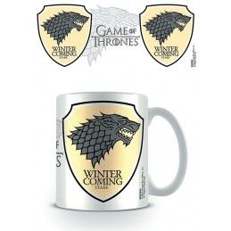 GAME OF THRONES WINTER IS COMING STARK MUG TAZZA IN CERAMICA