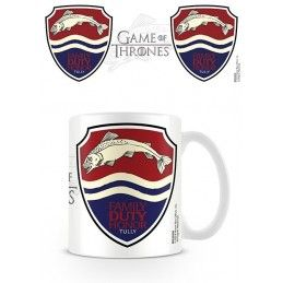 PYRAMID INTERNATIONAL GAME OF THRONES FAMILY DUTY HONOR TULLY MUG TAZZA IN CERAMICA