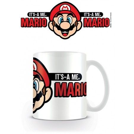 NINTENDO SUPER MARIO ITS A ME CERAMIC MUG TAZZA IN CERAMICA