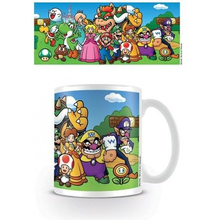 NINTENDO SUPER MARIO GROUP CERAMIC MUG TAZZA IN CERAMICA