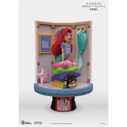 WRECK-IT RALPH 2 SPACCATUTTO D-STAGE 023 ARIEL STATUE FIGURE DIORAMA BEAST KINGDOM