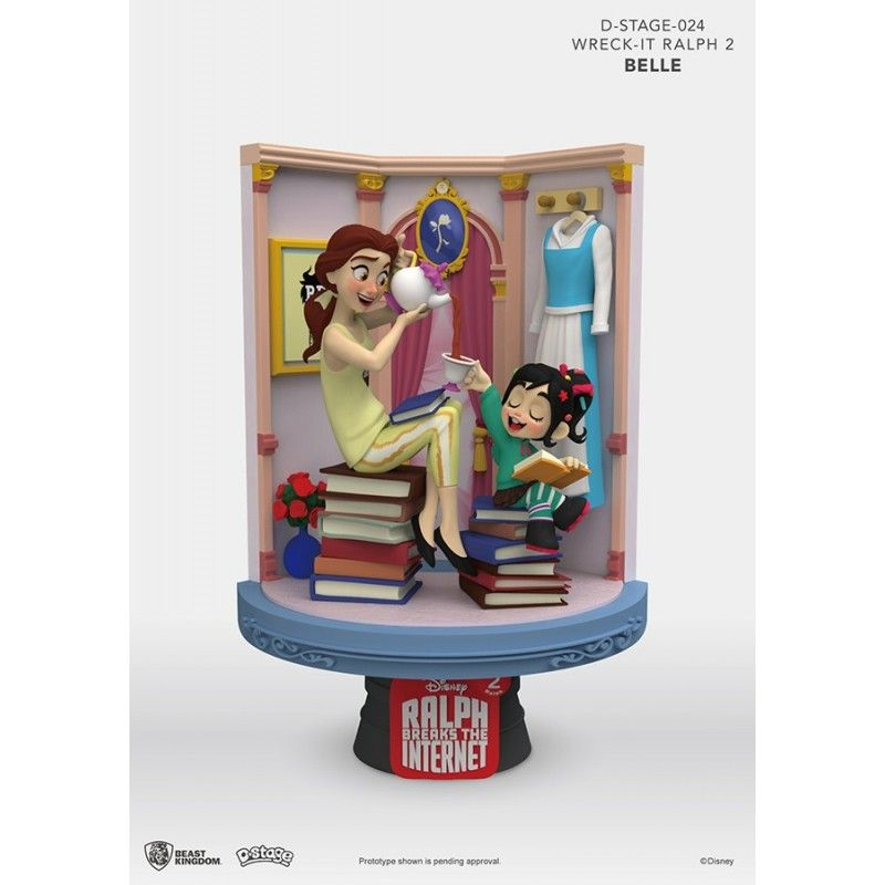 BEAST KINGDOM WRECK-IT RALPH 2 SPACCATUTTO D-STAGE 024 BELLE STATUE FIGURE DIORAMA