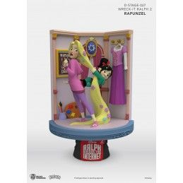 WRECK-IT RALPH 2 SPACCATUTTO D-STAGE 027 RAPUNZEL STATUE FIGURE DIORAMA