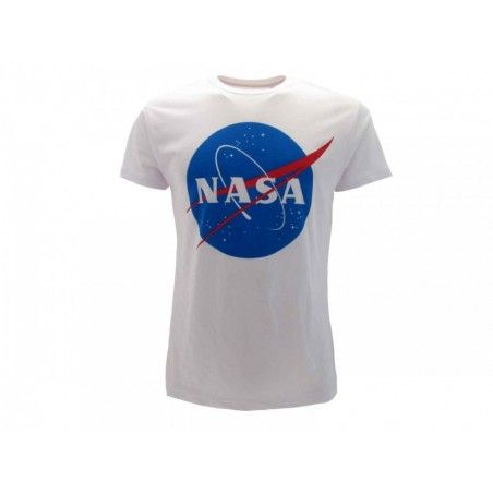 MAGLIA T SHIRT NASA LOGO BIANCA