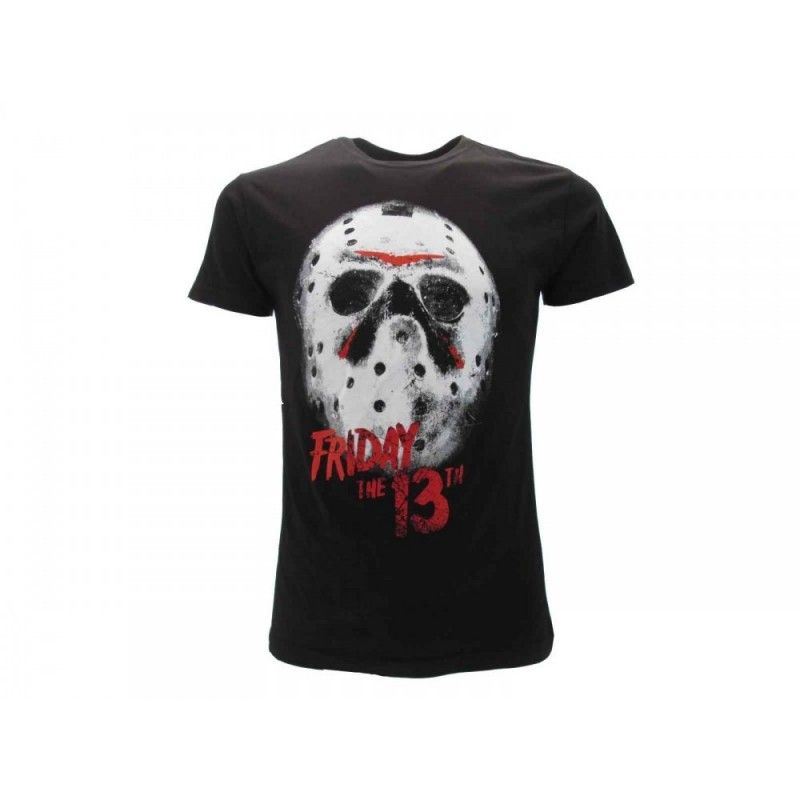 MAGLIA T SHIRT FRIDAY THE 13TH JASON MASK NERA