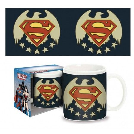 SUPERMAN FIVE  STARS MUG TAZZA