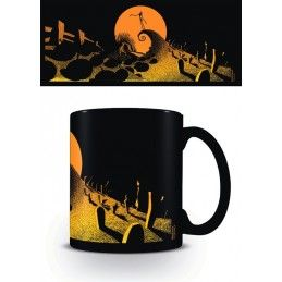 PYRAMID INTERNATIONAL NIGHTMARE BEFORE CHRISTMAS BLACK CERAMIC MUG TAZZA IN CERAMICA