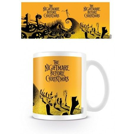 NIGHTMARE BEFORE CHRISTMAS YELLOW CERAMIC MUG TAZZA IN CERAMICA