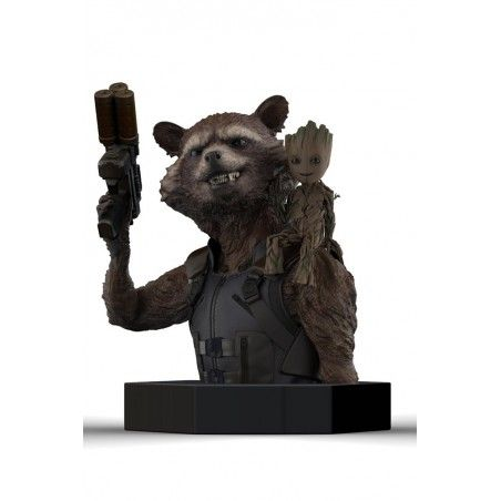 GUARDIANS OF THE GALAXY VOL.2 - ROCKET AND GROOT RESIN BUST FIGURE