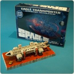 SPACE SPAZIO 1999 - EAGLE TRANSPORTER NEW ADAM NEW EVE DIE CAST REPLICA FIGURE SIXTEEN 12