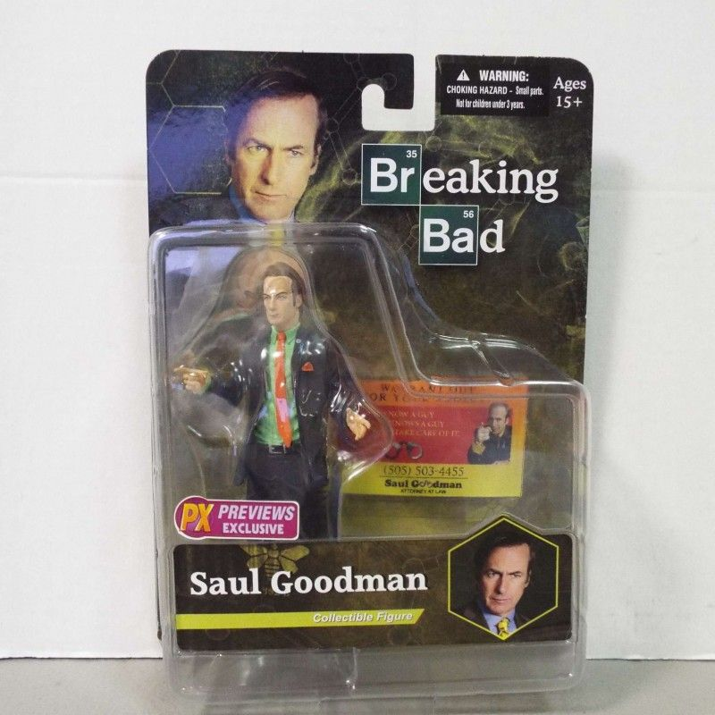 MEZCO TOYS BREAKING BAD SAUL GOODMAN GREEN SHIRT ACTION FIGURE