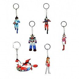 GRENDIZER RUBBER KEYRING SET DI PORTACHIAVI IN GOMMA UFO ROBOT GOLDRAKE HIGH DREAM
