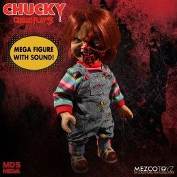 CHILD PLAY 3 PIZZA FACE CHUCKY TALKING ACTION FIGURE MEZCO TOYS