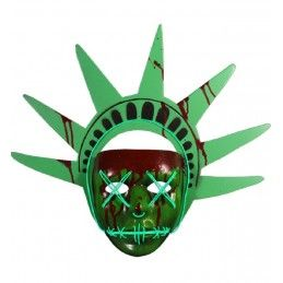 LA NOTTE DEL GIUDIZIO - THE PURGE - LADY LIBERTY MASK MASCHERA TRICK OR TREAT STUDIOS