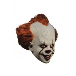 IT 2017 PENNYWISE DELUXE RUBBER MASK MASCHERA IN GOMMA TRICK OR TREAT STUDIOS