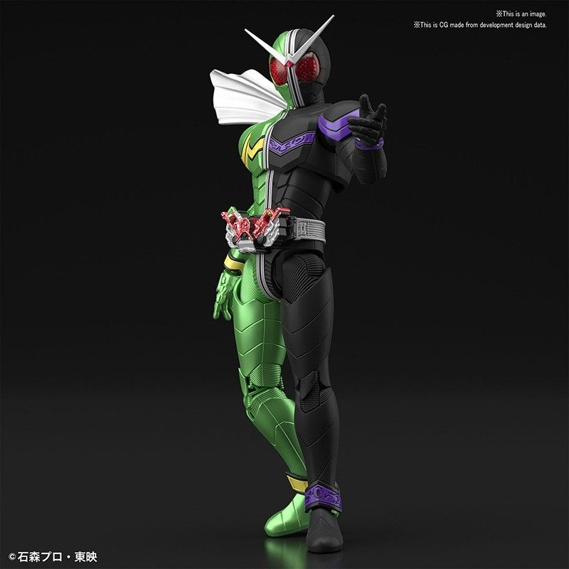 BANDAI FIGURE RISE KAMEN RIDER DOUBLE CYCLONE MODEL KIT ACTION FIGURE