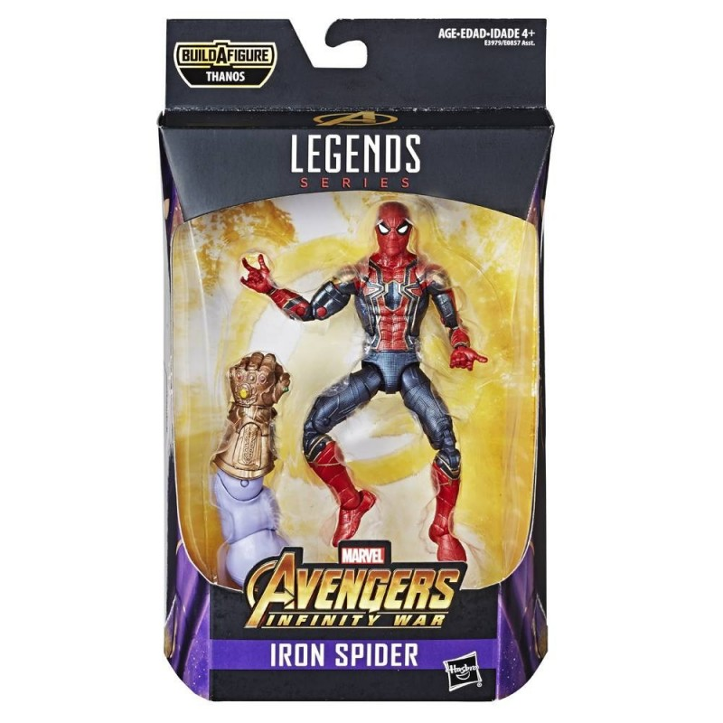 MARVEL LEGENDS SERIES AVENGERS THANOS - IRON SPIDER-MAN ACTION FIGURE