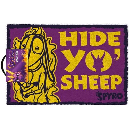 SPYRO HIDE YO SHEEP DOORMAT ZERBINO 40X60CM