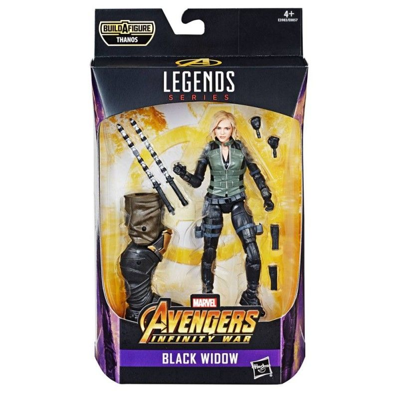 HASBRO MARVEL LEGENDS SERIES AVENGERS THANOS - BLACK WIDOW ACTION FIGURE